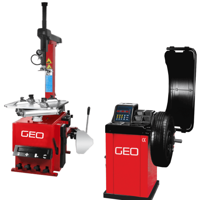 Tyre changer wheel balancer packages from geo for Equipement complet garage auto