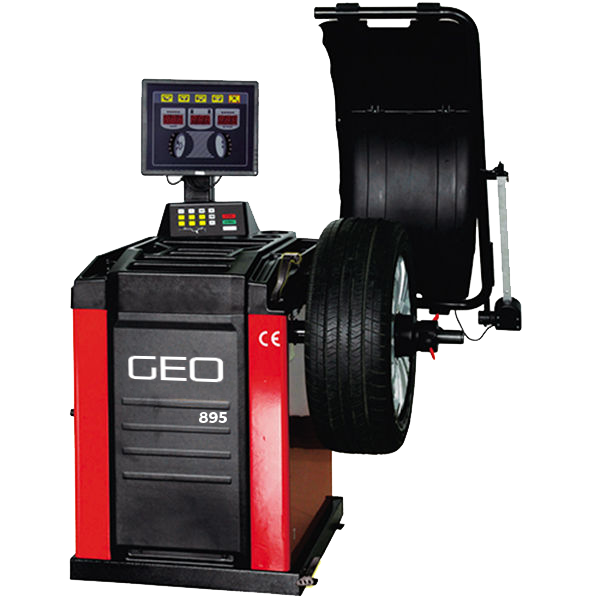 GEO 895 Fully Automatic Wheel Balancer with 17 Inch LCD Screen