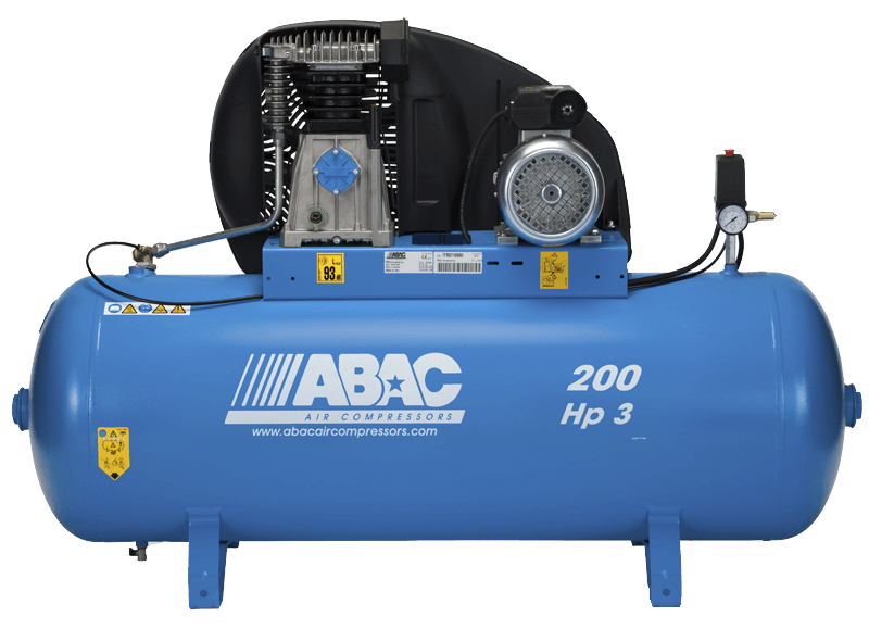 Abac A39B Pro 3 Hp 1 Phase 200 Litre Air Compressor