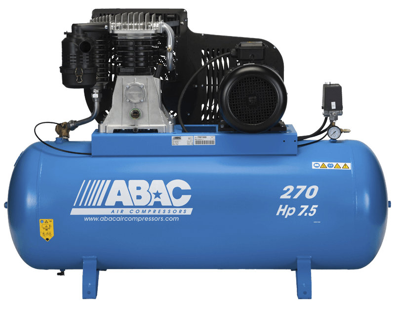 Abac B6000 Pro 7.5 Hp 3 Phase 270 Litre Air Compressor