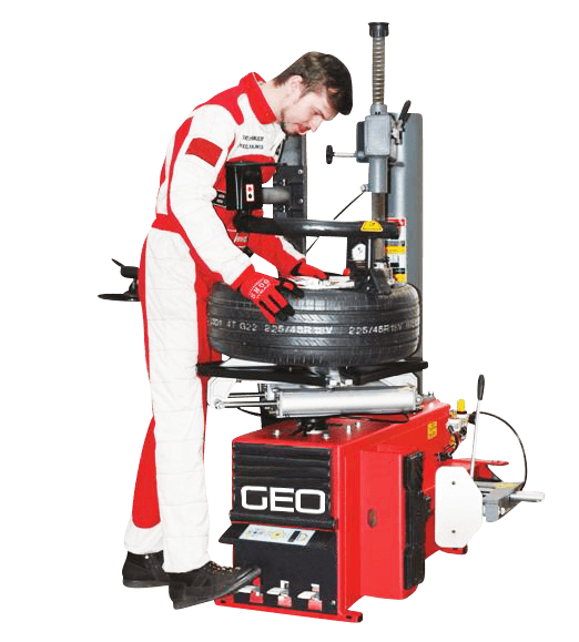 GEO Pro Semi Automatic Tyre Changer with Side Assist Arm