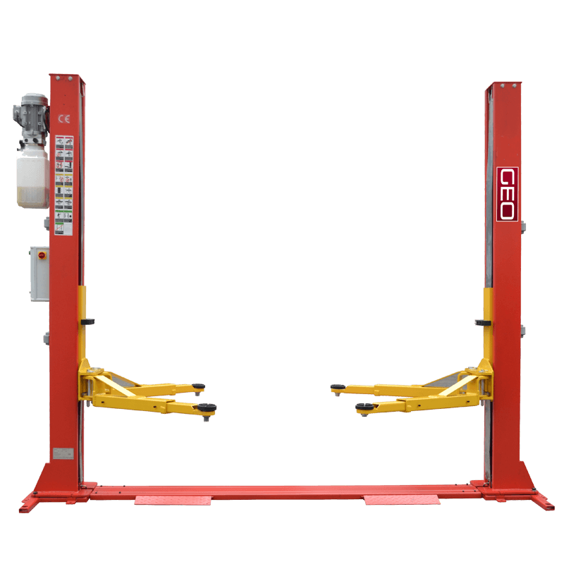 5.5 Tonne Electronic Lock Release  H Frame 2 Post Lift