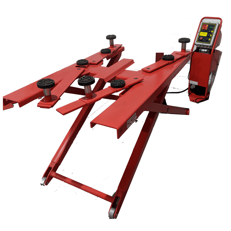 Mid Rise Scissor Lift With Mobile Trolley Attachment